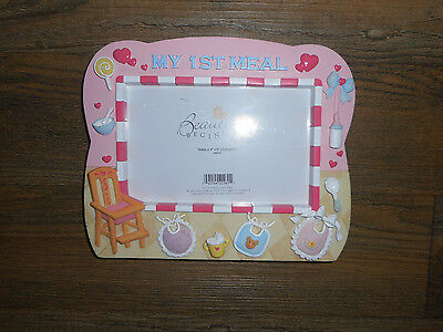 NIB Beautiful Beginning's By Enesco Baby Girl MY FIRST MEAL  Picture Frame
