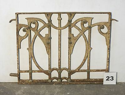 Antique Egyptian Architectural Wrought Iron Panel Grate (IS-023)