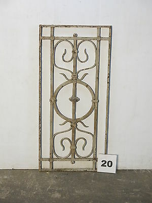 Antique Egyptian Architectural Wrought Iron Panel Grate (IS-020)