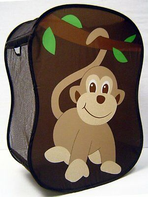 Monkey Childrens Hamper Nursery Decor Storage Baby W Brand New Free Shipping US