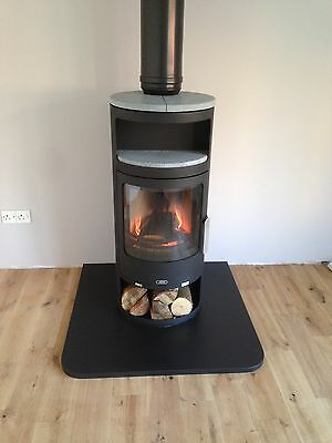 BESPOKE BLACK SLATE HEARTH STONE - MADE TO MEASURE - inc corner fire hearths