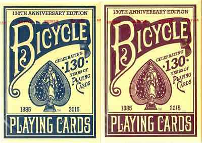 Bicycle 130th Anniversary Playing Cards 2 Deck Set - Special Edition - SEALED