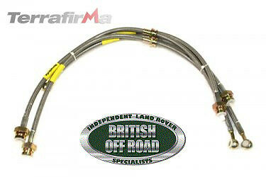Tf610L - Land Rover Discovery 2 +50Mm S/steel Braided Brake Hoses - Terrafirma