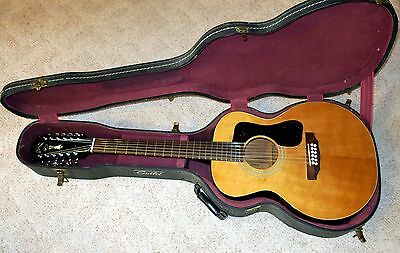 Guild F-112 12-String Guitar Vintage 1976 with Original Hard Shell Case USA made