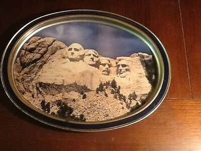 Limited Edition Metal Tray From Sunshine Biscuts Mt. Rushmore 1986