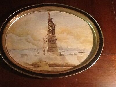 Metal Limited Edition Tray From Sunshine Biscuts 1985 Statue Of Liberty