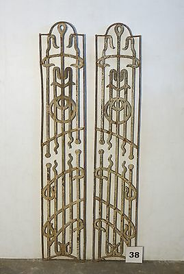 Antique Egyptian Architectural Wrought Iron Panel Grate (IS-038)