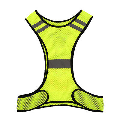 LED Light Reflective Safety Vest for Night Sports Running Cycling Breathable