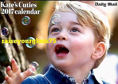 The Mail Kate's Cuties 2017 Glossy Calendar Kate Middleton George Charlotte
