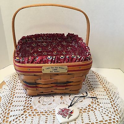 Longaberger ~ 1996 Light the Fire Within, Bee Basket Combo