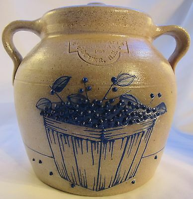 Salmon Falls bean pot with basket of blueberries