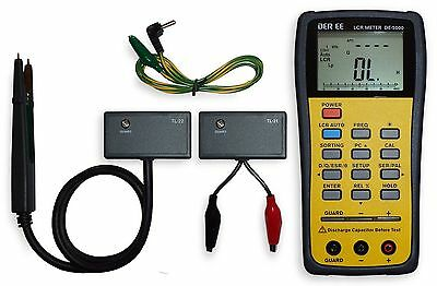 Brand New DE-5000 Handheld LCR Meter with accessories
