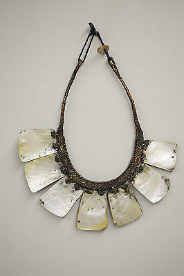Ifugao Shell Mother of Pearl Status Necklace Philippine Tribal
