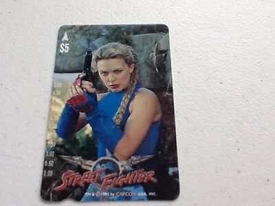 Phonecard - Kylie Minogue in Street Fighter movie limited edition