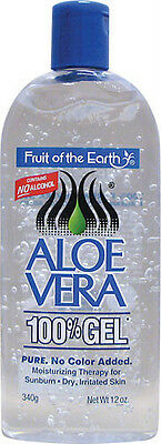 Fruit Of The Earth Aloe Vera 100% Gel 12 Oz