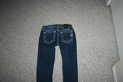 Miss Me Cuffed Embellished Skinny Jeans Girls Size 14