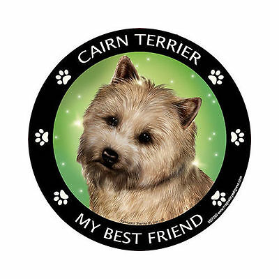 My Cairn Terrier Is My Best Friend Dog Car Magnet