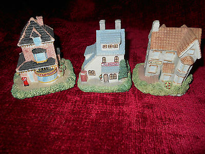 CORNWALL COLLECTORS SOCIETY Lot of 3 Miniature Houses/Cottages 1992 & 1993