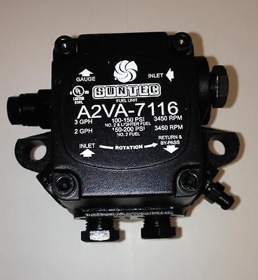 NEW!!! SUNTEC A2VA-7116 SUNTEC SINGLE STAGE 3450 PUMP A2VA7116 Carlin