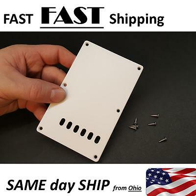 Electric Guitar rear back plate cover white with holes OEM factory style matte