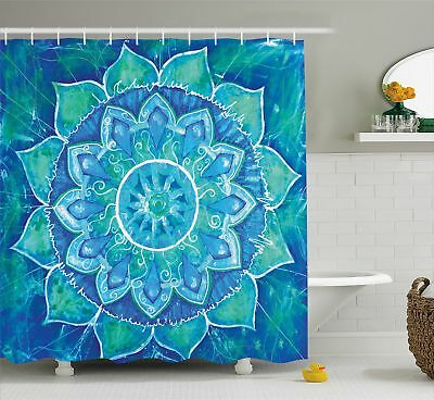 Indian Mandala Hippe Bohemian Print Polyester Fabric Shower Curtain with Hooks