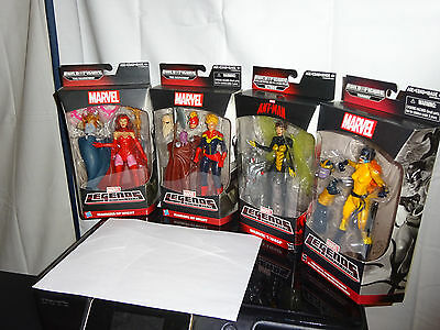 Lot Of 4 Women Figures - Marvel's Wasp, Captain Marvel, Hell Cat, Scarlet Witch