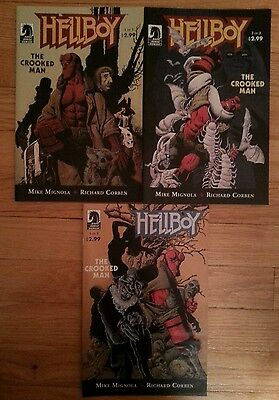 HIGH GRADE Lot 3 HELLBOY THE CROOKED MAN Dark Horse Mike Mignola Corben Cover NM