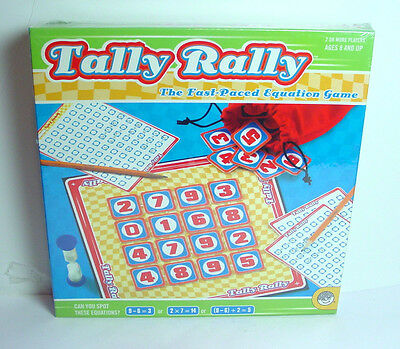 Tally rally math equation game race to find relationship with numbers