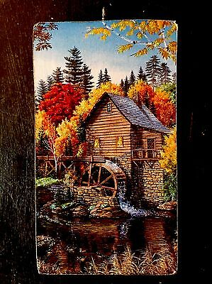 The Grist Mill In Fall Wooden Glittered Christmas Ornament