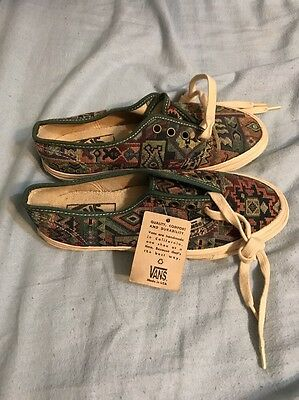1990s Vans Sneakers. Made in the USA. Size 6