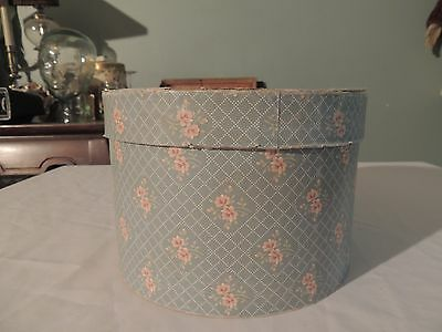 Antique Vintage ROSEDAWN ROSE DAWN Wall Paper Hat Box 1832  P-2 Floral Flowers