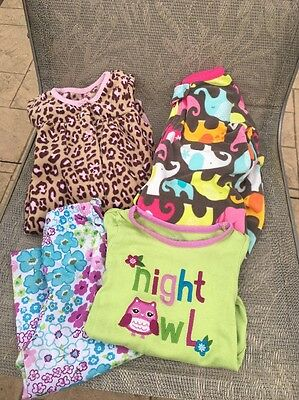 Lot Of 3-Girls Carter's Gymboree Pajamas Sleepers Size 18-24 Months
