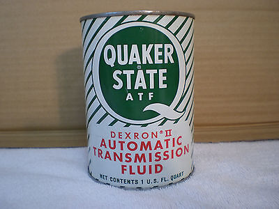 Vintage Metal Quaker State Quart Can Automatic Transmission Fluid Oil Can Sign