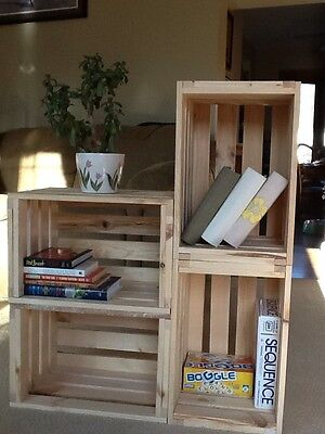 Reclaimed Pine Wooden Single Crate- Rustic Shelf Display-Storage
