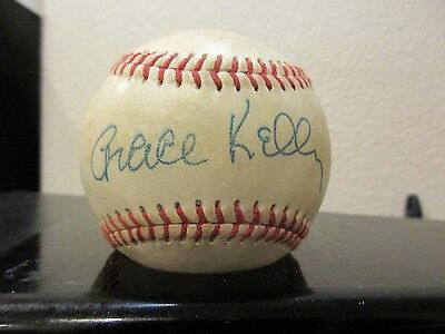 Grace Kelly Novelty1962 Autographed Baseball  *New Design for Fall*