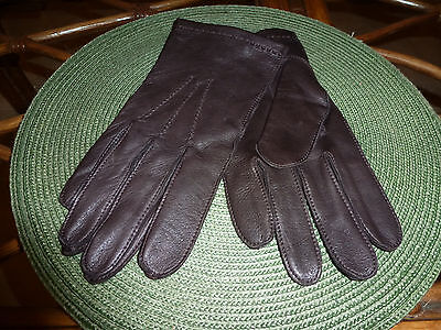New! Mens Fownes Soft Leather Unlined Brown Driving Gloves Xl (Extra Large)