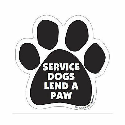 Service Dogs Lend A Paw Dog Paw Quote Car Magnet