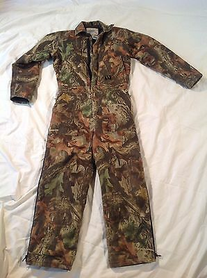 Walls Insulated Camo Advantage Timer Youth 14 R Zip Up Coveralls Outdoor Hunting
