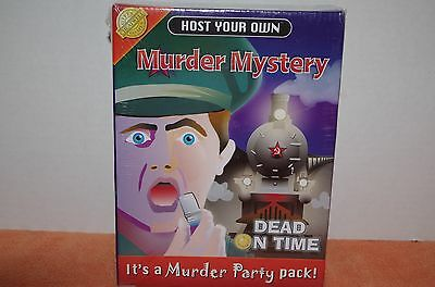 New Host Your Own Murder Mystery CD Game: Dead on Time Cheatwell Games 2004