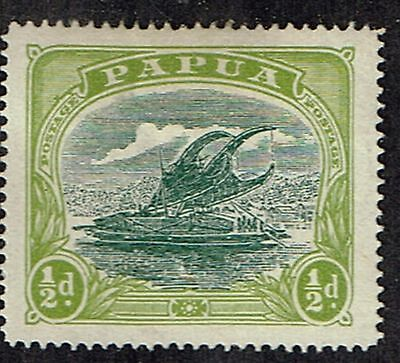 """1916 Papua """"Lakatoi"""" 1/2d Sideways Wmk Crown to right of A Mint Hinged SG 93w"""