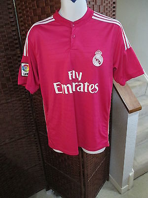 Real Madrid FC Pink Soccer Jersey Size Adult L/XL Football