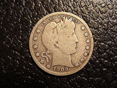 1909-S Barber Quarter VG WE COMBINE ON SHIPPING
