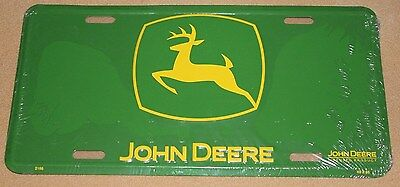 John Deere License Plate Aluminum New Sealed Officially Licensed Green & Yellow
