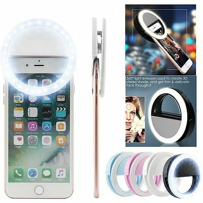 LOT Selfie Portable LED Ring Fill Light Camera Photos for iPhone Android Phone@K