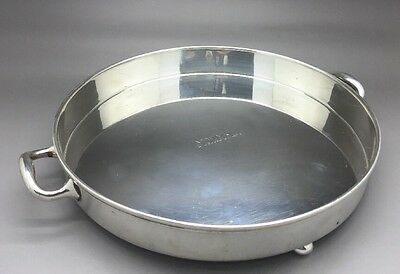 TIFFANY & Co. MAKERS STERLING SILVER 20670 1773 M 2 HANDLED FOOTED DISH TRAY PAN