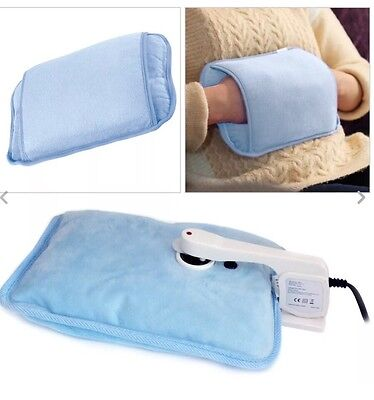 New Rechargeable Electric Hot Water Bottle Bed Hand Warmer Massaging Heat Pad Uk