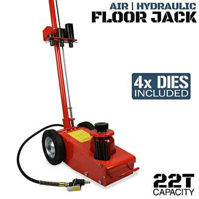 22 Ton Air/Hydraulic Floor Jack with 4 dies | Car Truck SUV Trolley 4x4 Lift NEW