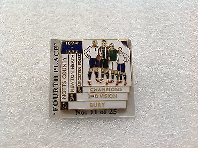 1894/95 Leicester Fosse Top Four Finishers Badge