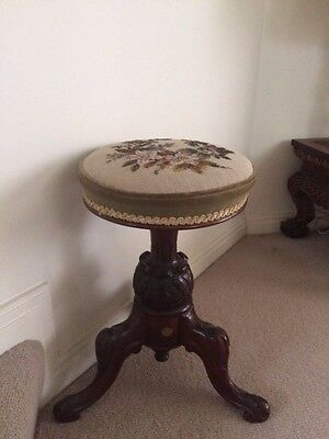 Victorian Piano / Dressing Table Stool