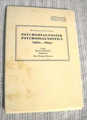 Rorschach Psychodiagnostic Plates by Hermann R. -Set of 10 Plates LIKE NEW